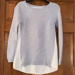 Loft Women's XS Colorblock Textured Tunic Sweater